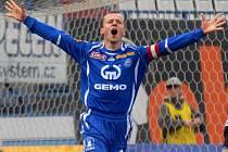 Tomáš Randa se raduje z gólu
