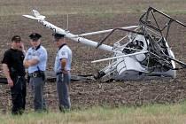 Pád vrtulníku nedaleko neředínského letiště