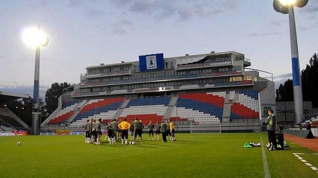 Trénink litevské reprezentace na Andrově stadionu