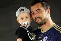 """Fotbalisté olomoucké Sigmy se fotili na """"kartičky"""". Michal Ordoš"""