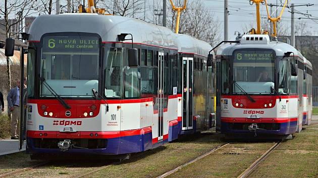 Olomoucké tramvaje. Ilustrační foto