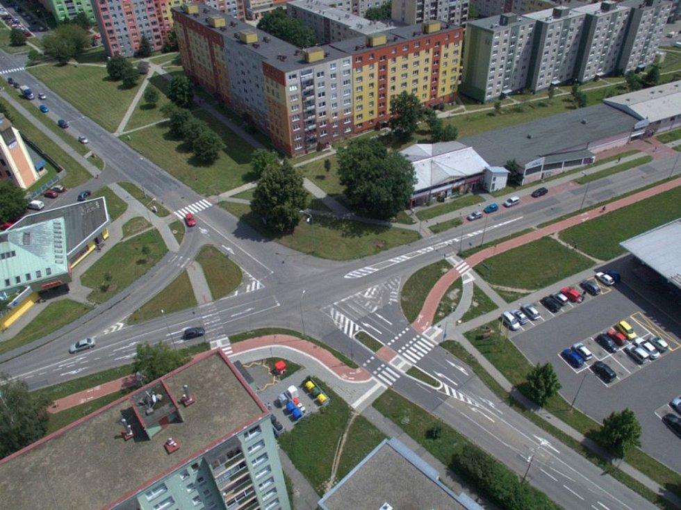 Křižovatka Zikova x Schweitzerova - současný stav