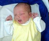 Ondřej Lolek, Litovel, narozen 12. září ve Šternberku, míra 50 cm, váha 3530 g