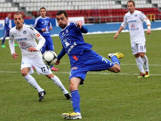 Olomoucká Sigma (v modrém) porazila Slovácko. Ilustrační foto