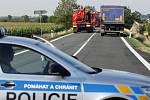 Srážka nákladního a osobního auta u Kožušan