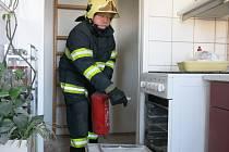 Požár sporáku v bytovém domě v ulici Za Vodojemem v Olomouci