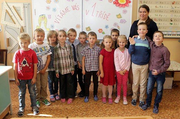 Žáci 1.B ze ZŠ sv. Voršily vOlomouci střídní učitelkou Miroslavou Javoříkovou