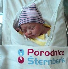 Tomáš Zelený, Šternberk, narozen 11. dubna ve Šternberku, míra 53 cm, váha 4020 g