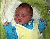 Sebastian Uvíra, Hlubočky-Mariánské Údolí, narozen 20. listopadu ve Šternberku, míra 55 cm, váha 4650 g