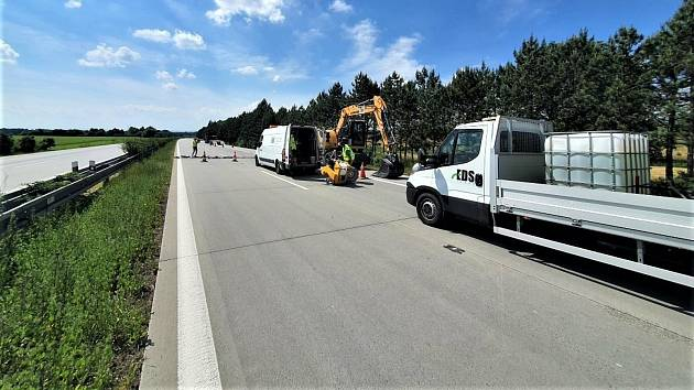 Oprava dálnice. Ilustrační foto.