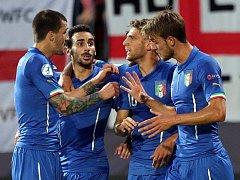 Gólová radost Italů. Euro U21 na Andrově stadionu v Olomouci
