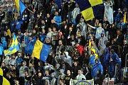 Zlínští fanoušci na zápase Evropské ligy mezi Fastavem Zlín a Sheriffem Tiraspol na Andrově stadionu v Olomouci