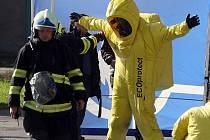 Cvičení hasičů v Litovli