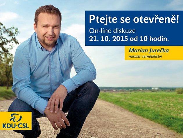 Ministr zemědělství Marian Jurečka on-line