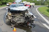 Nehoda tří osobních aut v Křelově-Břuchotíně, 25. 5. 2019