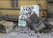 Následky nehody náklaďáku u náměstí Republiky v Olomouci, 15. 7. 2019