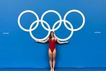 Barbora Janíčková na olympiádě v Tokiu.
