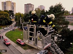 Spálené jídlo v bytě v Brněnské ulici zaměstnalo hasiče
