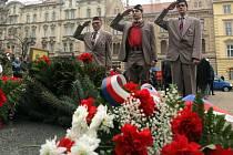 Položení věnců u pomníku T.G. Masaryka.