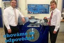Manažeři společnosti AVL v Hranicích  Milan Rajtár (vlevo) a Marek Cvešper (vpravo)