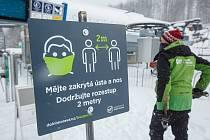 Skiareál na Dolní Moravě, 11. února 2021