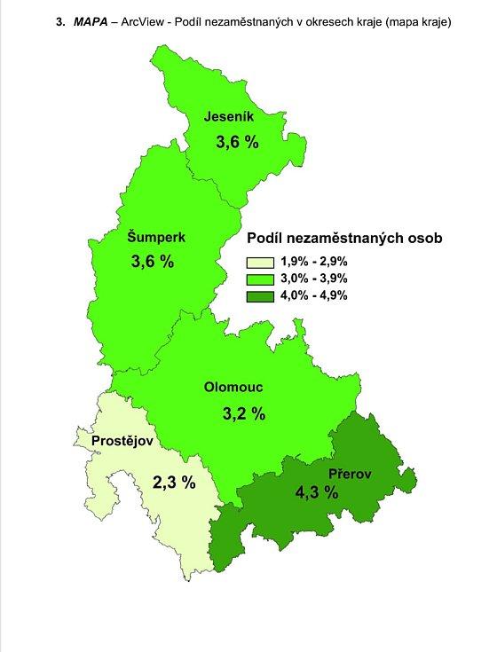 V Olomouckém kraji v srpnu 2021 podíl nezaměstnaných osob poklesl na 3,3 procenta.
