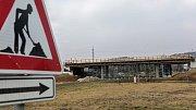 Březen 2018. Stavba dálnice D1 mezi Lipníkem a Přerovem
