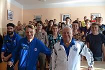Sigma na besedě s prostějovskými studenty