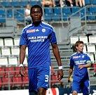 Fotbalisté Sigmy Olomouc B (v modrém) proti Frýdku