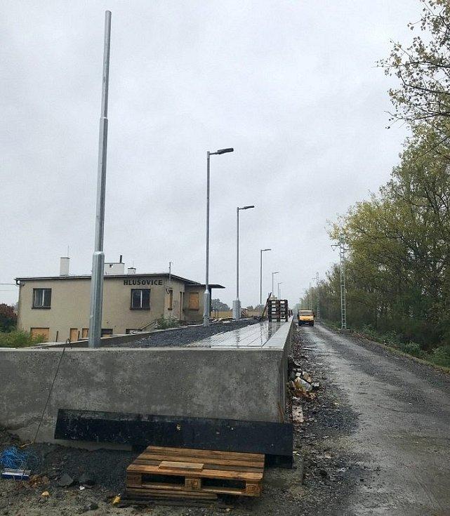 Elektrizovaná trať mezi Olomoucí a Šternberkem, Hlušovice, 14. října 2020