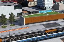 Vizualizace proměny vlakového nádraží ve Vsetíně