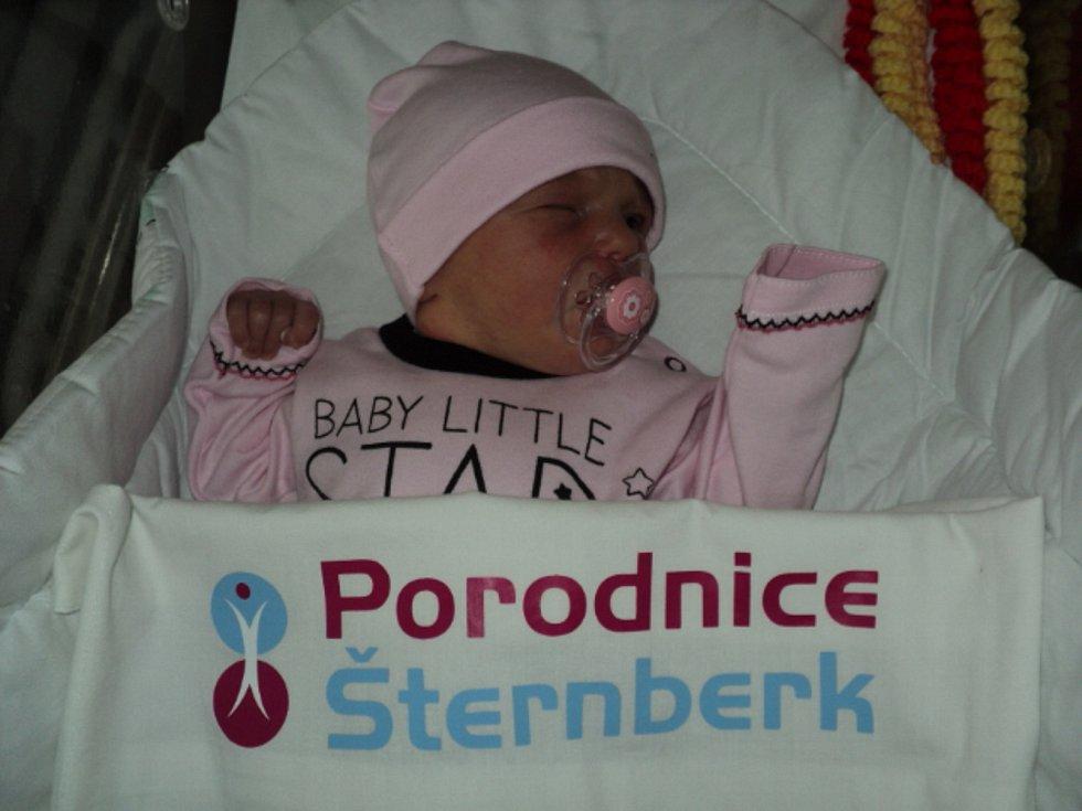 Běta Vodičková, Ješov, narozena 13. ledna, míra 51 cm, váha 3540 g