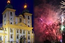 Bazilika na Svatém Kopečku. Ilustrační koláž