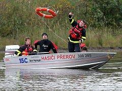 Cvičení dobrovolných hasičů na Libavé