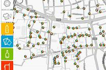 Web Olomouc třídí ukáže na mapě, kde je možné vyhodit jaký druh odpadu