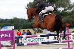 Ladislav Arient a Aragon Z. Světový pohár v jezdeckém areálu Equine Sport Centre v Olomouci