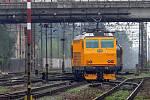 Žlutý expres RegioJet při prezentační jízdě v Olomouci
