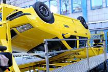 Otočný simulátor nehody. Ilustrační foto