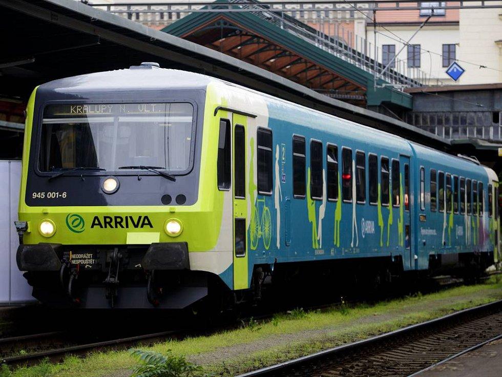 Motorový vlak společnosti Arriva. Ilustrační foto