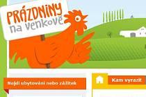 Web projektu Prázdniny na venkově