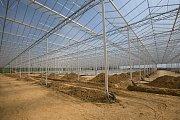 Výstavba unikátního skleníku ve Smržicích na Prostějovsku