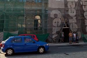 """""""Dům hrůzy"""" v Olomoucké ulici ve Šternberku při opravách na podzim 2018"""