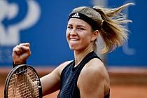Karolína Muchová  na turnaji v Praze