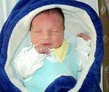 Michal Zatloukal, Střelice, narozen 28. března ve Šternberku, míra 49 cm, váha 3580 g