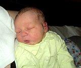 Matyáš Doričák, Moravský Beroun, narozen 20. března, míra 49 cm, váha 3330 g