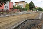 Přestavba křižovatky třídy Míru a Neředínské ulice v Olomouci, 9. července 2021