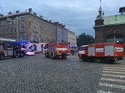 Požár kuchyně v Kateřinské ulici v Olomouci