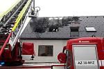 Požár azylového domu v Dalově, místní části Šternberka, 21. 2. 2019