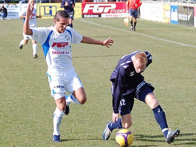 David Korčián z 1. HFK Olomouc a Pavel Němčický z 1. FC Slovácko