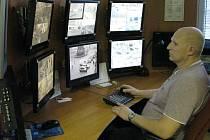 Ivo Krčmář hlídá kamerový systém olomoucké městské policie přes půl roku